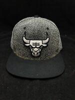 Mitchell & Ness White / Chicago Bulls Snapback Hat Cap Speckled White Logo