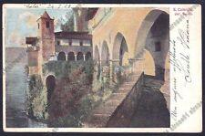 VARESE LEGGIUNO 16 SANTUARIO SANTA CATERINA del SASSO Cartolina viaggiata 1909