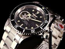 Invicta Mens Pro Diver Open Heart Automatic NH38A Black Bezel SS Bracelet Watch