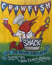 Crawfish Shack /Boil  print vintage  style art chesapeake bay carolina seafood