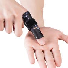 Kuangmi Finger Sleeve Support Protector Splint Brace Pain Relief Black Size S/M