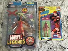 Marvel Legends Toy Biz Electra Series 4 IV & Retro figures
