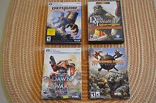 PC Game Lot - Warhammer Online, Dawn of War II, Dark Messiah, Demigod