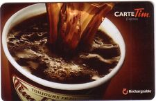 TIM HORTON Limited Edition Gift Card 2014 New No Value (FRENCH)