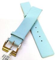 Echtleder Uhrenarmband / 18mm / Hellblau / Babyblau (R585) / Watch strap