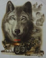 Brand New - White Glow in the Dark Wolf Tee T Shirt - Sizes: Sml, Med, Large