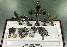 HUGE LOT OF Vintage RELIGIOUS JEWELRY- Cross, Rosary, etc.