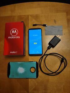 Motorola Moto Z3 64GB Ceramic Black Verizon w/original box *Charging Issue*