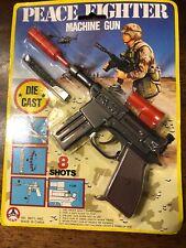Vintage Sub Machine Gun SHOOTING DIE-CAST SCALE MODEL CAP GUN NOS R4