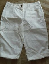 SIZE 14 LADIES  3/4 TROUSERS  SHORTS BHS WHITE  COMBAT / CARGO STYLE