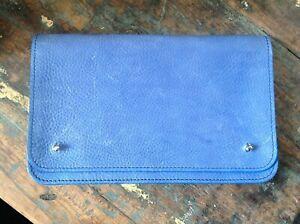TOAST Leather Cornflower Blue Clutch/Large Purse