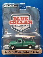 2016 Greenlight Blue Collar 1968 CHEVROLET C-10 pick-up truck - mint on card!