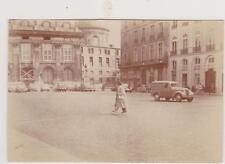PHOTOGRAPHIE VINTAGE ANNEE 60- 2CV - DS21- PRAIRIE et véhicules en stationnement