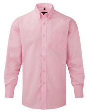 Russell hombre Camisa Manga Larga Oxford Talla especial S M L Xl Xxl 3xl 4xl