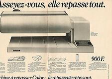 PUBLICITE ADVERTISING 044  1977   CALOR  machine à repasser  ( 2 pages)
