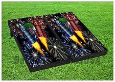 Fireworks Custom Cornhole Boards Beanbag Toss Game w Bags Celebration July 4 283