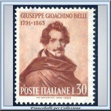 1963 Italia Repubblica Gioacchino Belli n. 972 Nuovo **