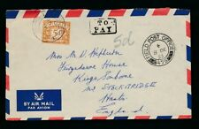 GB POSTAGE DUE 1953 from ARMY FPO 475 AIRMAIL to STOCKBRIDGE TO PAY BOXED + 5d