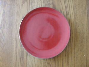 Williams Sonoma Red Reactive Glaze Charger Plate-Tray,Platter-Valentine DInner