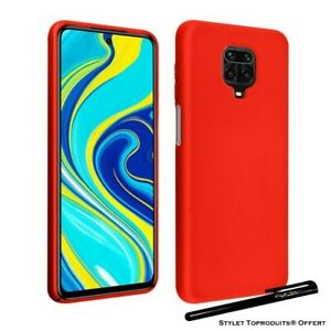 Coque silicone gel Rouge ultra mince pour Xiaomi Redmi note 9 pro