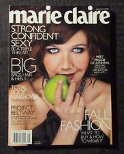 2009 Marie Claire Magazine NM w/ Maggie Gyllenhall Autograph on Paper