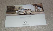 Mercedes C Class Sports Coupe Brochure 2002 - C220 CDI C180 C200K C230K C320
