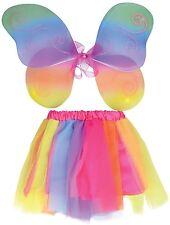filles clair Tutu arc-en-ciel Aile Fée danse costume déguisement accessoire
