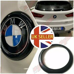 BMW X2 Gloss Black Rear Badge Ring cover F39 dechrome boot