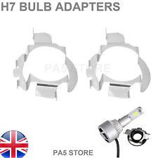 2x H7 Bombilla Adaptadores Soporte Faro-Xenon HID LED se ajusta Nissan Qashqai X-Trail