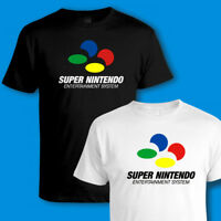 SUPER NINTENDO CONSOLE, SNES T SHIRT, 90s VINTAGE RETRO VIDEO GAMES Sizes to 5XL