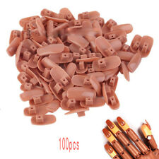 100x Replacement Refill Nail Tips For Flexible Practice Brown Hand Finger
