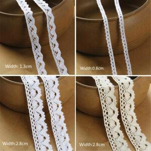 10M Cotton Spitze Spitzenband Spitzenborte Elastisch Spitzenbesatz WeddingTrim
