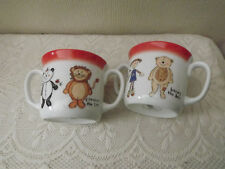 2 Doulton Harvey Bear Mugs - Twin Handled