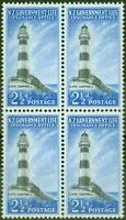 New Zealand 1963 2 1/2d Black & Brt Blue SGL45 V.F MNH Block of 4