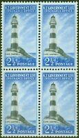 New Zealand 1963 2 1/2d Black & Brt Blue SGL45 V.F MNH Block of 4