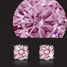 18k rose gold gp 925 silver made with Swarovski crystal earrings pink flower 5mm