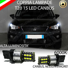 COPPIA LUCI DIURNE DRL 15 LED T20 W21W CANBUS SEAT ARONA 6000K NO ERROR