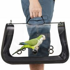 Portable Bird Parrot Travel Cage Clear Lightweight Breathable Handbag Carrier 1X