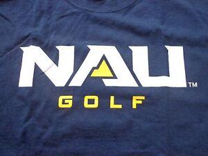 NAU GOLF men's NWOT sz L short sleeve cotton shirt blue, white, gold