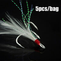 3 hook Carbon Steel  Treble with Feather Lures Crank Baits Fishing Hooks