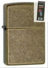 Zippo 201fb antique brass Lighter + FLINT PACK
