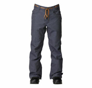 New 2104 Mens DC Relay Shell Snowboard Pants Large Dress Blue