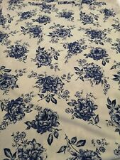 4 meters white/blue stunning floral scuba crepe qabric