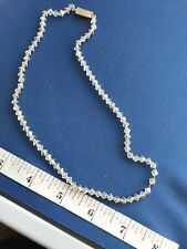 Rhinestone Crystal Necklace (a1) Vintage Art Deco Jewellery A/B