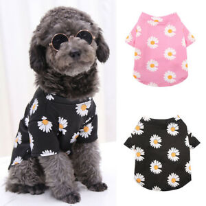 Summer Pet Dog Cat T-Shirt Daisy Vest Tops Puppy Soft Apparel Costume Clothes