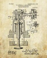 Car Engine Patent Art Print Automotive Mechanic Parts Office Decor Gifts PAT494