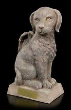Tier Urne - Hunde-Engel sitzend - Andenken geliebtes Haustier Hundeurne Fantasy