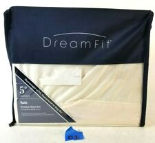 NEW DreamFit 5 Deg. 70% Bamboo 30% Cotton  Premium Twin Sheet Set Eggshell   #01