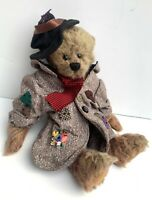 """GANZ COTTAGE COLLECTIBLES BEAR """"HOBO"""" 14"""" TALL 1999 VINTAGE"""