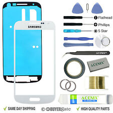 Samsung Galaxy S4 Mini Replacement Screen Front Glass Lens Repair Kit WHITE